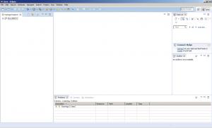 Eclipse - ekran główny z importowanym projektem