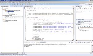 Eclipse - ekran główny z wynikami uruchomienia projektu przy użyciu Apache Ant